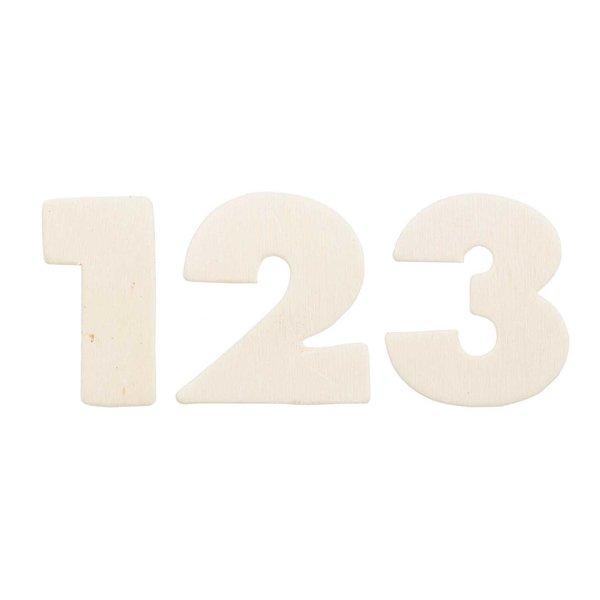 Rico Design Zahlen & Zeichen aus Holz 3,3cm