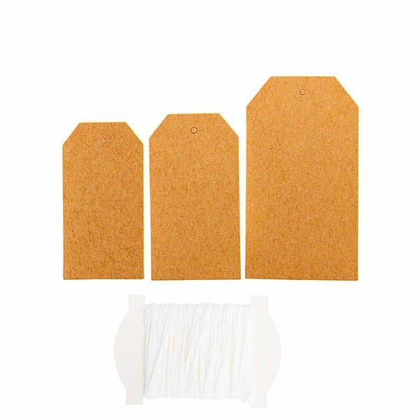 Paper Poetry Papieranhänger Kraftpapier 24 Stück