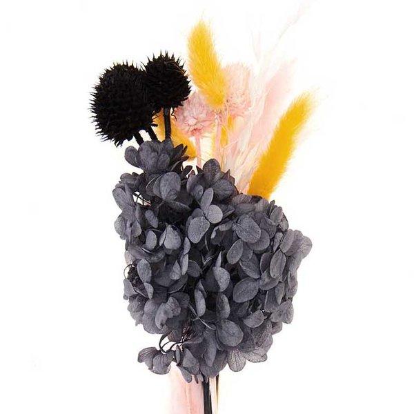 Made by Me Trockenblumenstrauß pastell-schwarz 30cm 13teilig