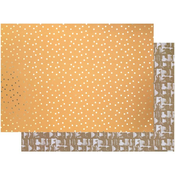 Paper Poetry Motivkarton Punkte senfgelb-gold 50x70cm