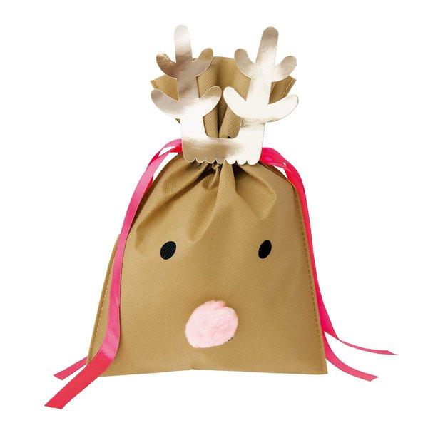 Paper Poetry Geschenktüte Nostalgic Christmas Rentier hellbraun 20x30cm