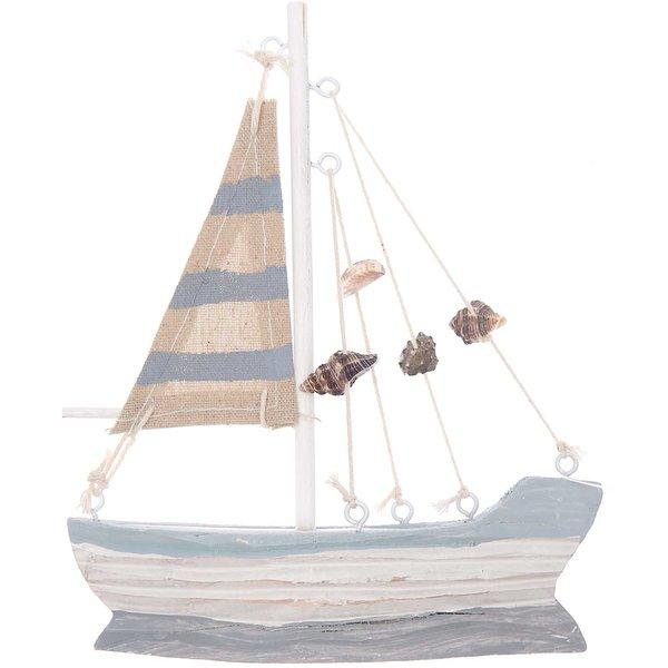 Ohhh! Lovely! Segelboot aus Holz 15x18cm