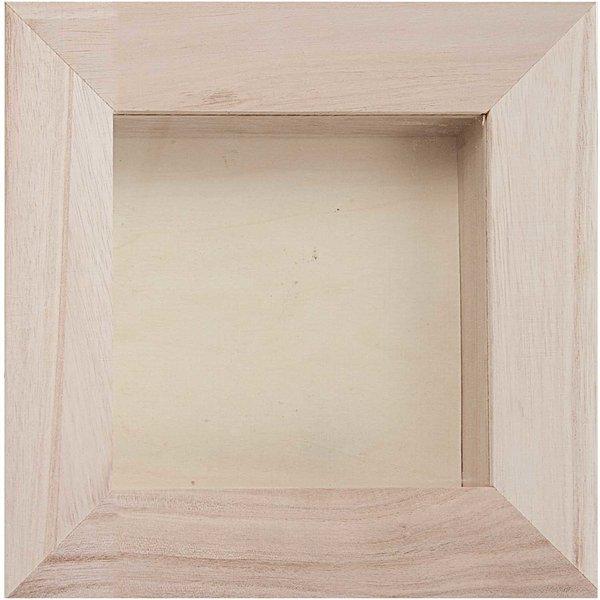 Rico Design 3D-Holz Bilderrahmen 16x16cm