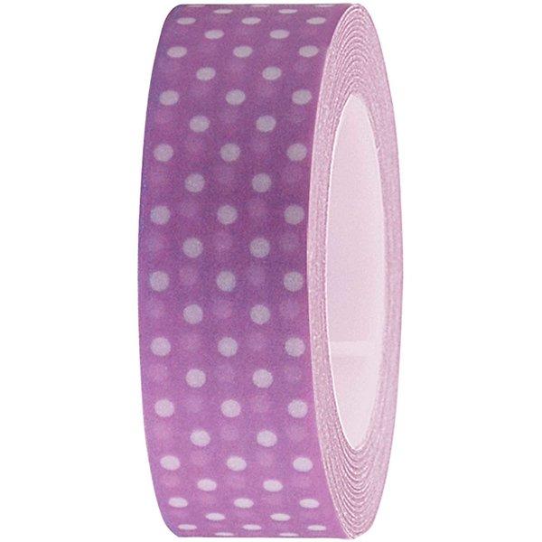 Rico Design Tape flieder-weiße Punkte 15mm 10m