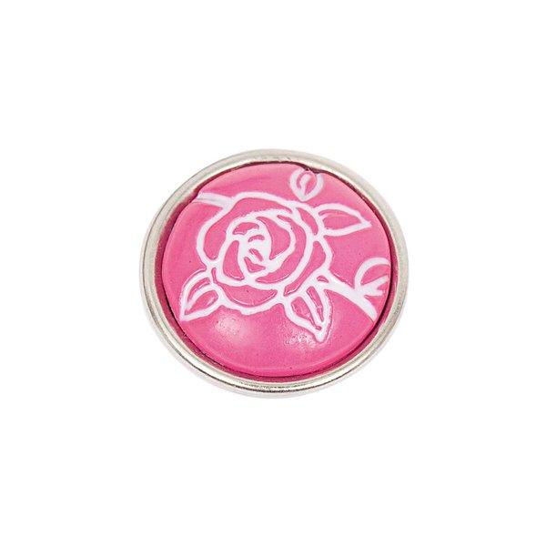 Rico Design Knopf Rose pink 14mm