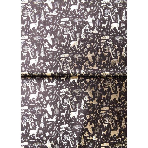 Rico Design Paper Patch Papier Nostalgic Christmas schwarz 30x42cm