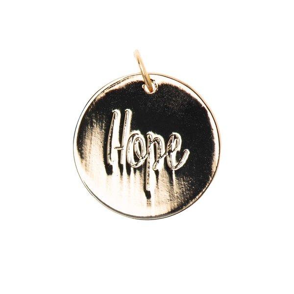 Mix it Up - Jewellery Anhänger Scheibe Hope gold Ø17mm
