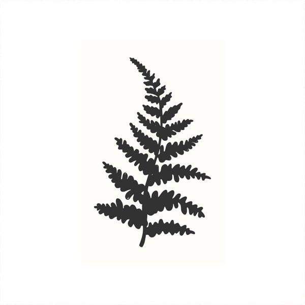 May&Berry Stempel Farnzweig weiß 35x55mm
