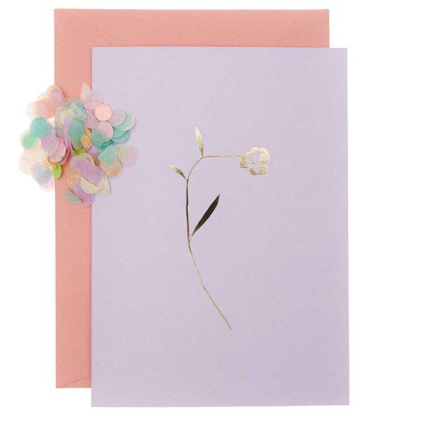 Paper Poetry Grußkartenset Transformation flieder