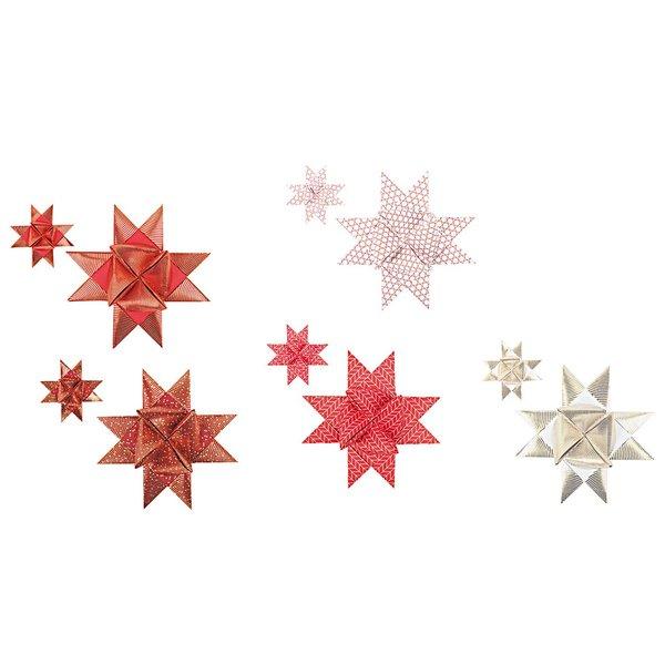 Paper Poetry Fröbelstreifen gezeichnete Spitzen weiß-rot 40 Stück
