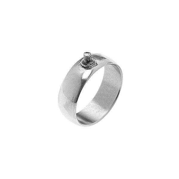 Rico Design Ring breit 17mm Schraubgewinde silber