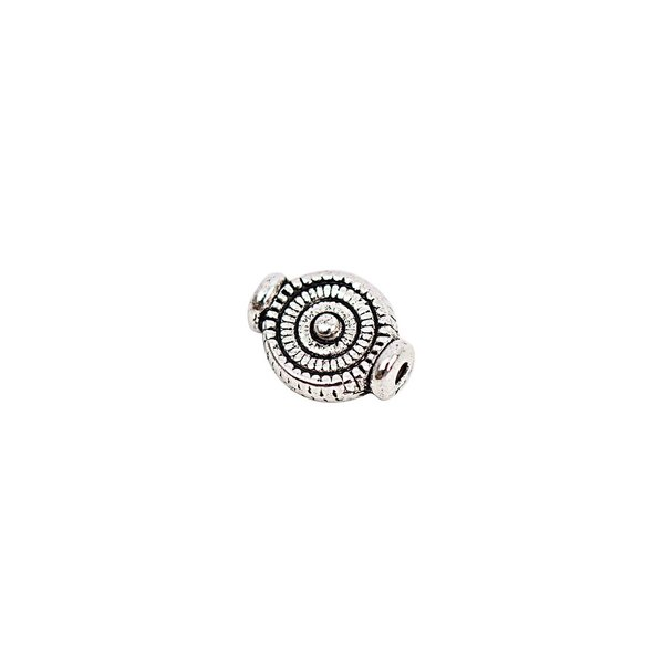 Rico Design 25 Linsen Spiralmuster silber 6mm