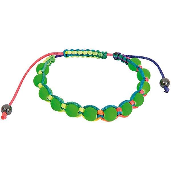 Rico Design Makrameearmband grün-mehrfarbig 17-26cm
