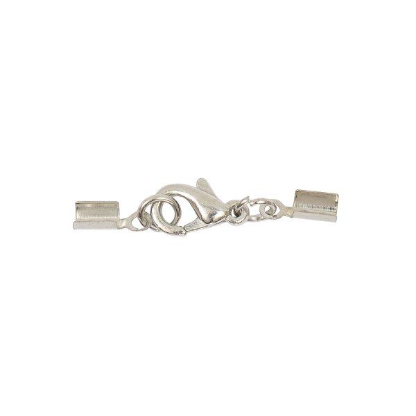 Jewellery Made by Me Lederbandverschluss silber 2mm
