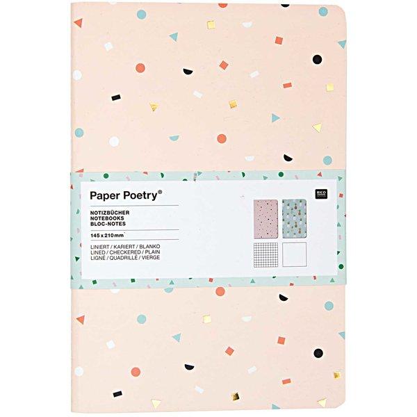 Paper Poetry Notizbücher Tropical Spring A5 2 Stück