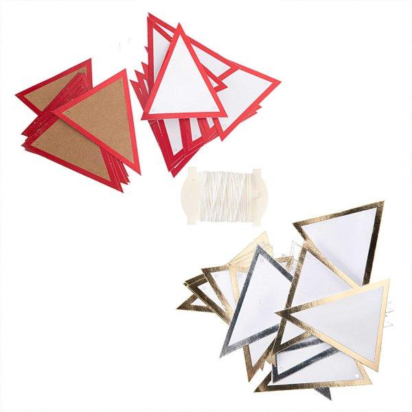 Paper Poetry Papierwimpel mit Hot Foil 24 Stück