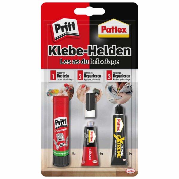 Pritt/Pattex Klebehelden Kleber 3teilig