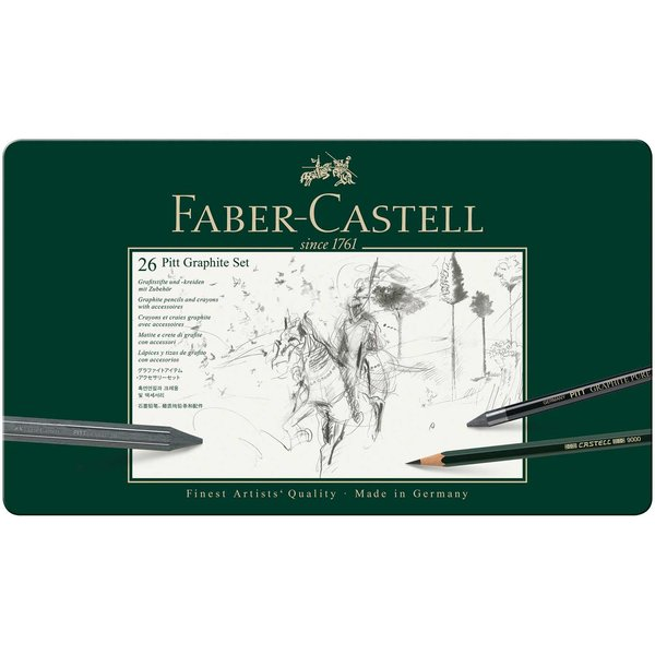 Faber Castell Pitt Graphite Zeichenset groß 26teilig