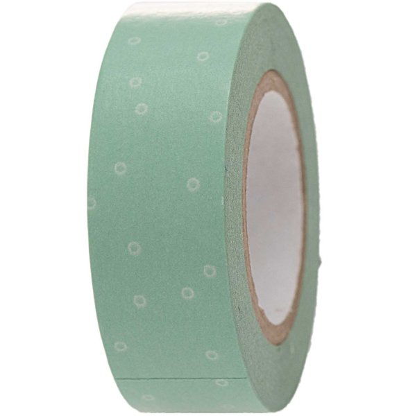 Paper Poetry Tape Punkt mint-weiß 1,5cm 10m