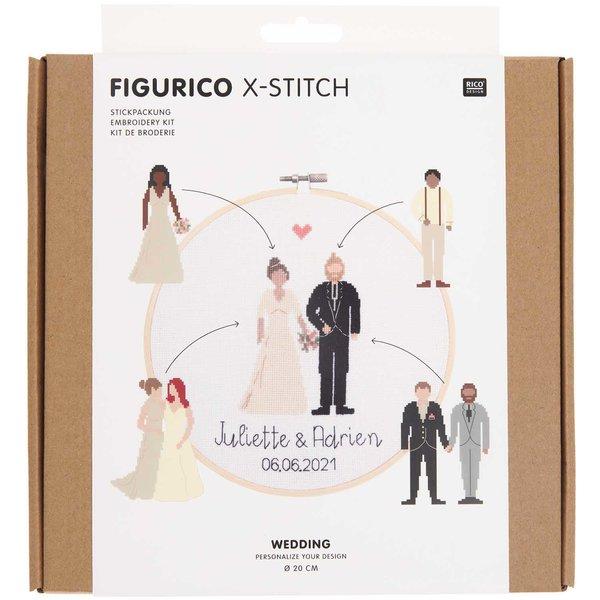 Rico Design Figurico Stickpackung Wedding Ø 20cm