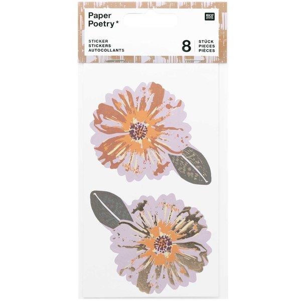 Paper Poetry Sticker große Blüten 4 Blatt