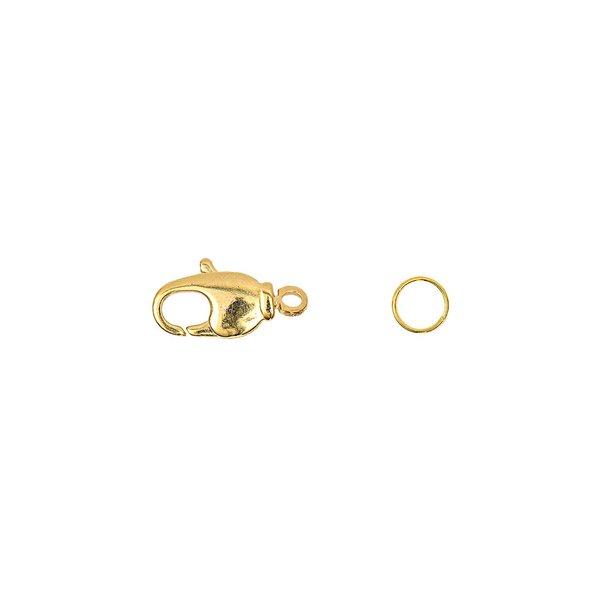 Jewellery Made by Me Karabiner mit Drehöse und 2 Federringen gold 14mm