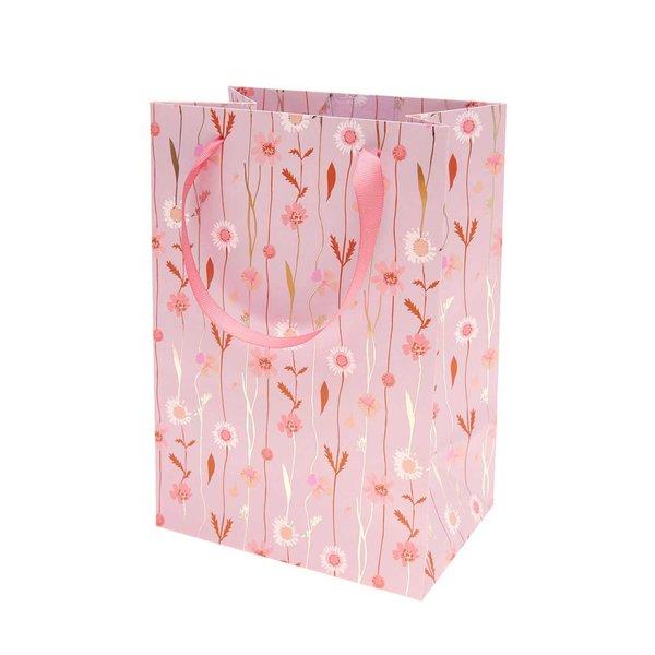 Paper Poetry Geschenktüte Blumenranken flieder 18x26x12cm