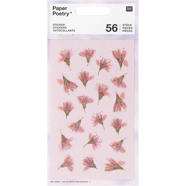 Paper Poetry Sticker Kirschblüten 4 Blatt