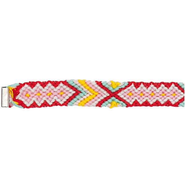Rico Design Freundschaftsband rosa-rot-türkis XS/S 10x160 mm