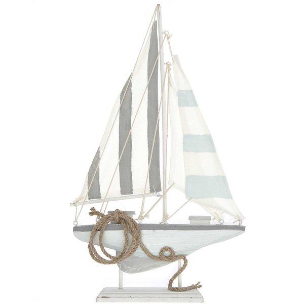 Ohhh! Lovely! Segelboot hellblau-weiß Holz 24x39cm