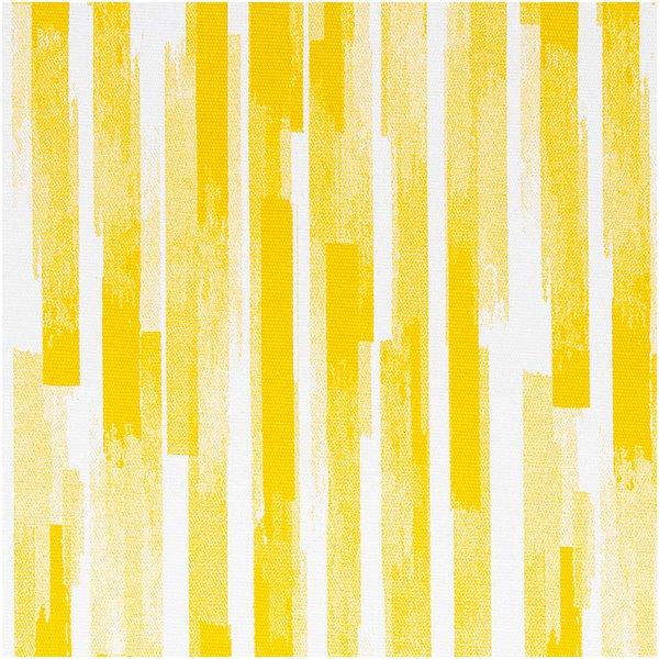 Rico Design Druckstoff Canvas Aloha Streifen gelb-weiß 50x140cm