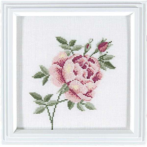 Rico Design Stickpackung Rose 21x21cm
