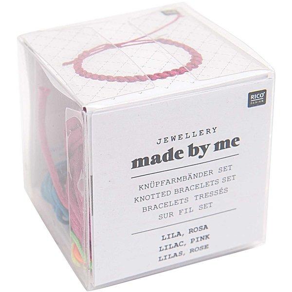 Rico Design Knüpfarmbänder Set lila-rosa 13x11x4,5cm