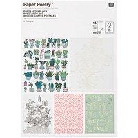 Paper Poetry Postkartenblock Hygge Plants 12,5x17,6cm