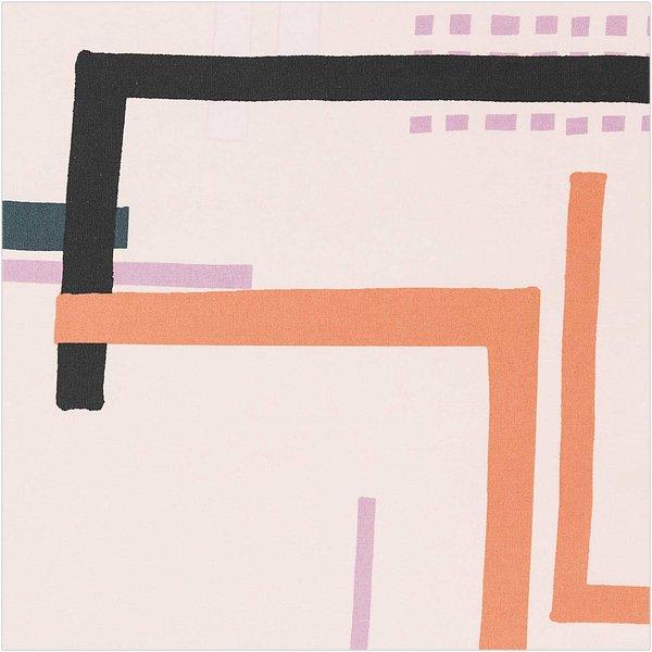 Rico Design Druckstoff Okina Hana Grafisches Muster groß rosa 50x140 beschichtet