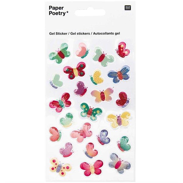 Paper Poetry Gelsticker Schmetterlinge