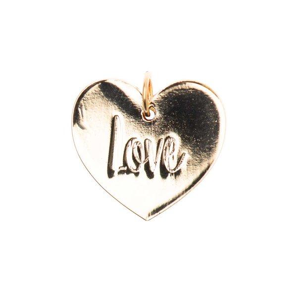 Mix it Up - Jewellery Anhänger Scheibe Love gold Ø17mm