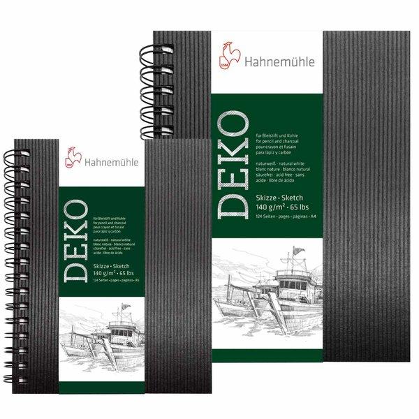 Hahnemühle Spiral-Skizzenbuch Deko schwarz 62 Blatt