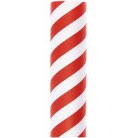 Paper Poetry Geschenkpapier Streifen rot-weiß 70cm 2m 80g/m²