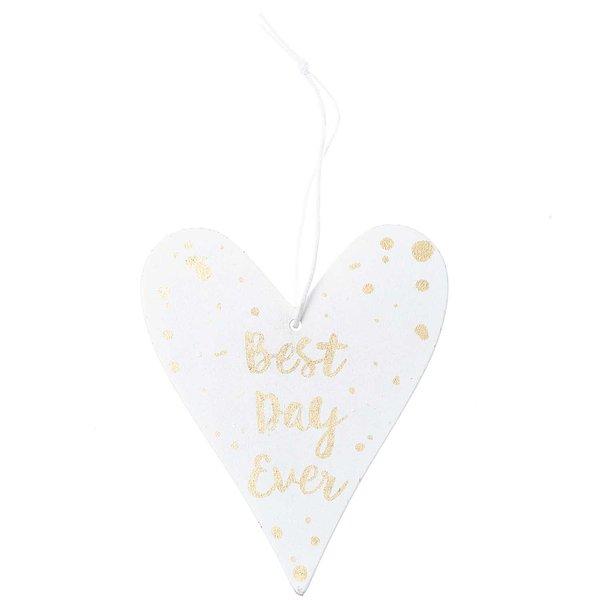 Ohhh! Lovely! Holzhänger Herz mit Spruch weiß-gold