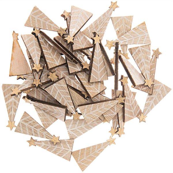 Ohhh! Lovely! Holzstreu Tannenbaum natur 15x30mm 48 Stück