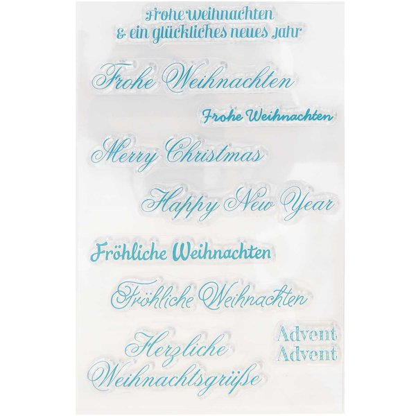 Paper Poetry Silikonstempel Schriften Weihnachten 9 Motive