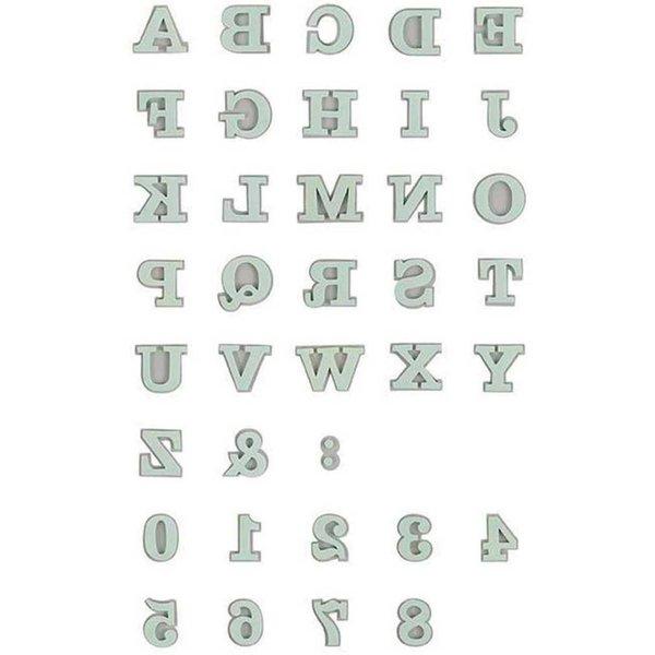 Rico Design Moosgummistempel Set Alphabet 1