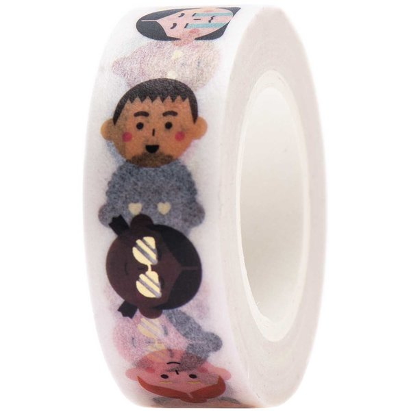 Paper Poetry Tape Gesichter 1,5cm 10m
