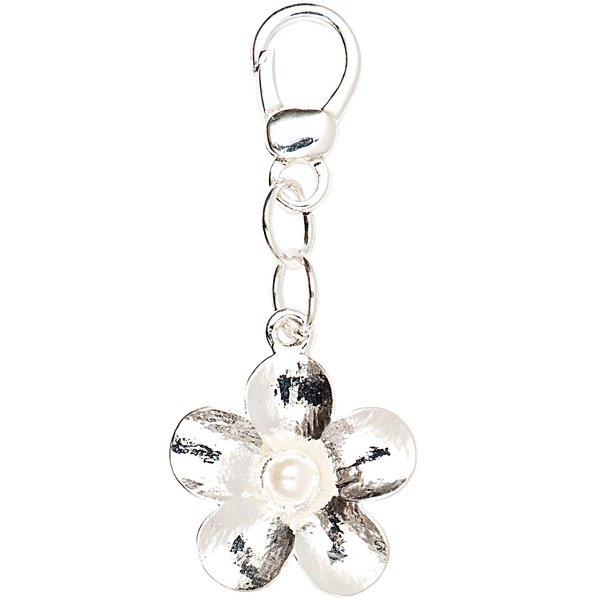 Jewellery Made by Me Big Charm Blume mit Perle 24x27mm