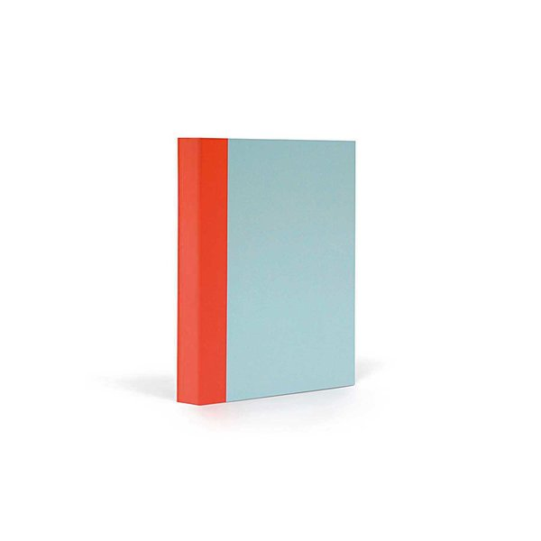 FANTASTICPAPER Notizbuch A6 kariert skyblue-warmred