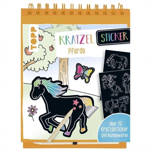 TOPP Kratzel-Stickerbuch Pferde