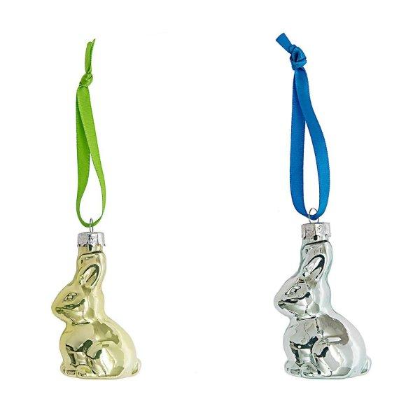Glas-Hase zum Hängen Pearldesign 6,5cm