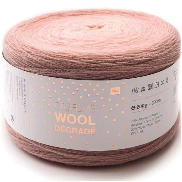 Rico Design Creative Wool dégradé 200g 800m