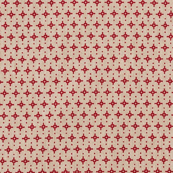 Rico Design Stoff Stern grafisch natur-rot 140cm